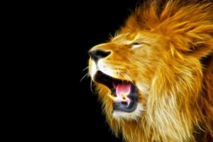 Фотоэффект - Неоновый лев