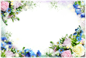 рамки для фото с цветами с прозрачным фоном