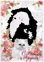 Поздравительная рамка - С котенком