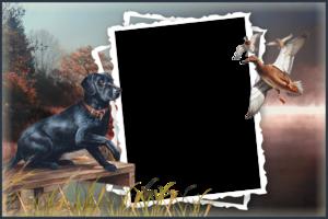 Мужская рамка – Охота