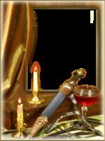 Мужская рамка - Свечи и коньяк