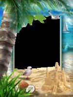 Рамка - На песчаном берегу