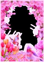 Фото с цветами с надписью для всех девушек
