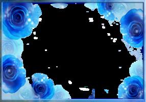 PSD, 10 PNG, Морозные синие рамки для фотошопа | 200x286