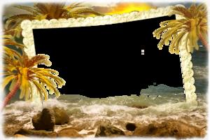 Рамка - Экзотический закат