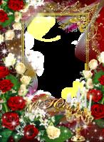 Рамка к юбилею с розами