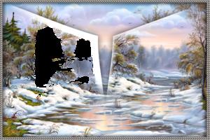 Зимняя рамка - Тающий снег